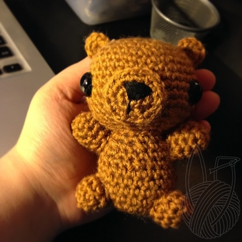 Honey Brown Teddy Bear 2 by theyarnbunny
