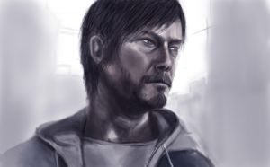 Norman Reedus (The Walking Dead) by UnlivedGecko