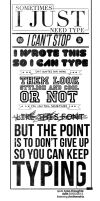 Typography Thoughts by SpiderIV