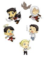 Some Chibis by CrayonPuppy