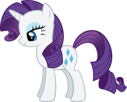 Rarity looks pleased by RedPandaPony
