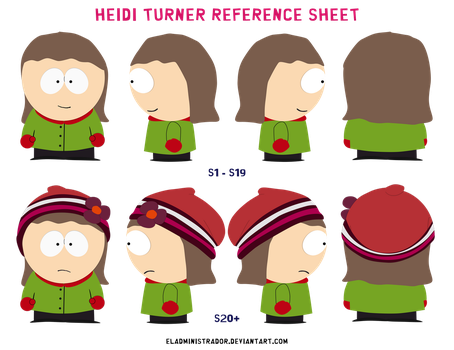 South Park reference sheet: Heidi Turner by hercamiam