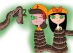 Kaa Isabella And Adyson Color by jerrydestrtoyer