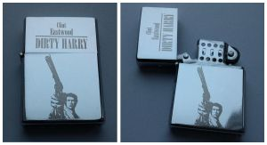 DIRTY HARRY - engraved lighter by Piciuu