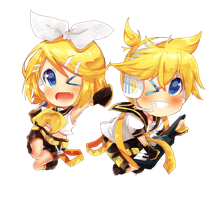 Kagamine power!!![With speedpaint!!!yay!!] by Kiekyun