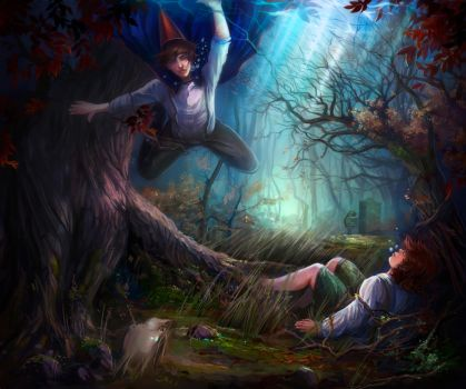 Over The Garden Wall By Lvina-d8i48nx   by Lvina