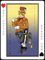 Mad Hatter in Cards by sadwonderland