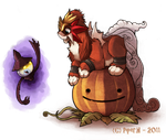 Commission - Halloween Entei by Cryptid-Creations