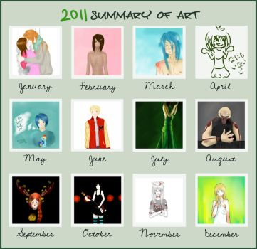 Summary of art 2011 by chronoGRAY