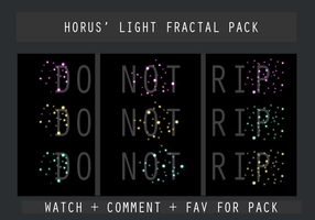 Horus' Light Fractal Pack by HorusFX