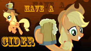 Have a cider AJ wallpaper by rhubarb-leaf