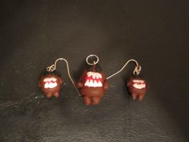 Domo Necklace and Earrings Set by colbyjackchz