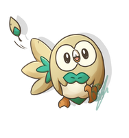 Rowlet commission! by KeezaPepper