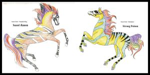 Sunset Echo's foals- color test by Everland-Stables