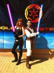Mara Jade and Gardek at JEHES 8 by Gardek