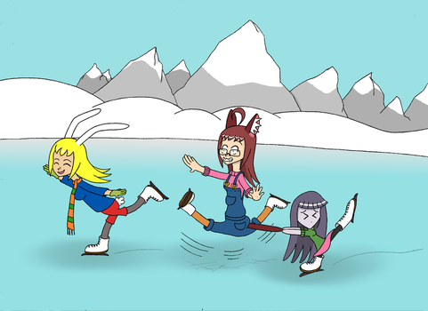 Francis, Lilly y Rave on ice by limaneko