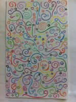 Colorful Swirls by Psycheheart