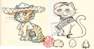 2010.02.23 and 24 Daily Poes by SylviaDraws