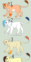 Adoptable set 3 by Featherwind21