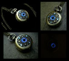Petite Regal Pocket Watch - Sky Dragon Eye by LadyPirotessa