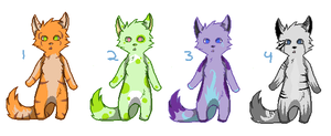 Furry adopts 1 Price lowered! by PeachAdopts