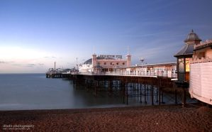 Brighton Pier at Sunrise HDR by diado