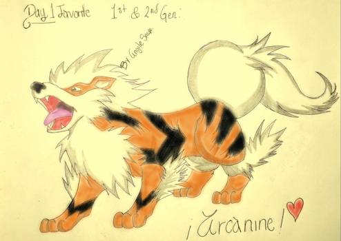 30DDC Day1Arcanine by AngilieSnape