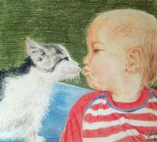 Baby And Cat by Turquoise-Tangerine