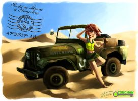 A Girl and Her Jeep by Tsuchan
