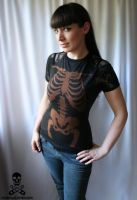 Bleach Skeleton Lace Tee by smarmy-clothes