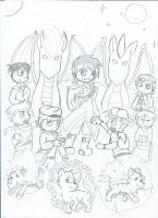 Pokemon Sun/Moon sketch by Hokyokkugitsune