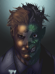 Two Face Color practice by JPVilchisartist