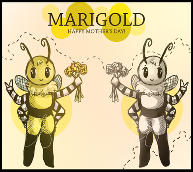 Marigold the Bee   Happy Mother's Day! by InsanArty