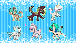 Galaxy Vine and Daniel foals {closed} by Ivon-adopts