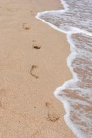 footprints in the sand by Kitty-Kitty-Kit-Kat