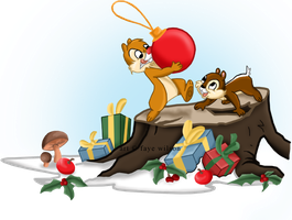 Chip 'n' Dale Christmas by Violet--Gypsy