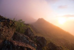 Misty Sunrise Mountain Stock 2 by little-spacey