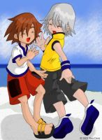 Chibi Sora and Chibi Riku 3 by moonglider