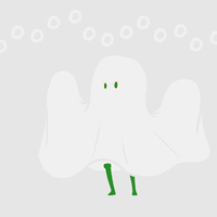 Day 287: Le gasp! A ghost! by Falling-Wish