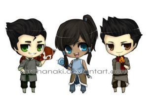 Legend of Korra chibis by sorahanaki