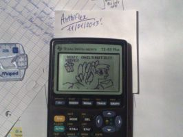 Derpy Hooves calculator-made drawing by Anthiflex