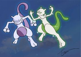 Mewtwo's Power Boost by FraankBiebs