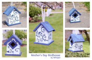 Mother's Day Birdhouse by BeeZee-Art