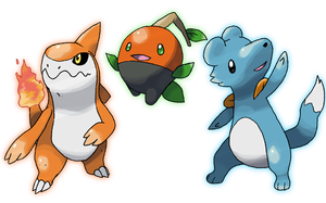 Commission: sm97's Starters by JelloJolteon2000