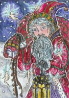 Christmas Wanderer (ACEO) by Keyshe54