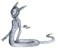Skinny alien snake thingy by SpontaneousFork