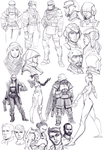 character studies by Makkon