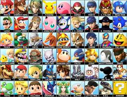 Super Smash Bros 4 Dream Roster(Realistic Version) by Lucas-Zero