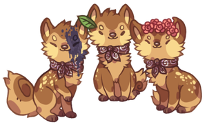 SD - Tika, Yako, and Kisa by nightIights