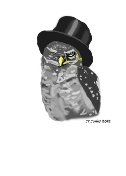 Owl in a Top hat by JTJP